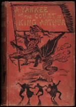 """""""A Yankee in the Court of King Arthur book cover 1889"""" by Daniel Carter Beard - Beinecke Rare Book and Manuscript Library [1]. Licensed under Public Domain via Wikimedia Commons - http://commons.wikimedia.org/wiki/File:A_Yankee_in_the_Court_of_King_Arthur_book_cover_1889.jpg#mediaviewer/File:A_Yankee_in_the_Court_of_King_Arthur_book_cover_1889.jpg"""