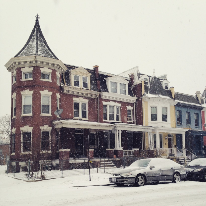 Beautiful snowy DC. Teaspoon of Nose