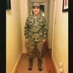 My husband in uniform. Teaspoon of Nose