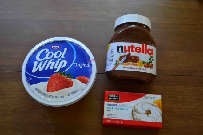 Creamy Nutella dip is a great easy dessert, especially for a crowd!