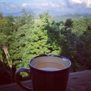 Mountain views + coffee = bliss.