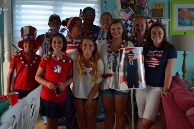 Celebrating the fourth of July with a Red White and Blue party!