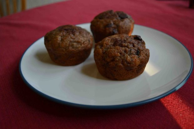Chocolate chip banana muffins taste great and make for a delicious breakfast on the go!