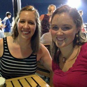 Enjoying a summer night at Tobacco Road watching the Durham Bulls game!