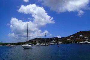 Enjoying a catamaran and snorkeling adventure in the US Virgin Islands!