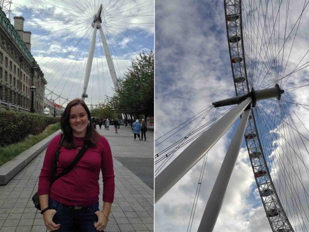 Exploring London on the London Eye!