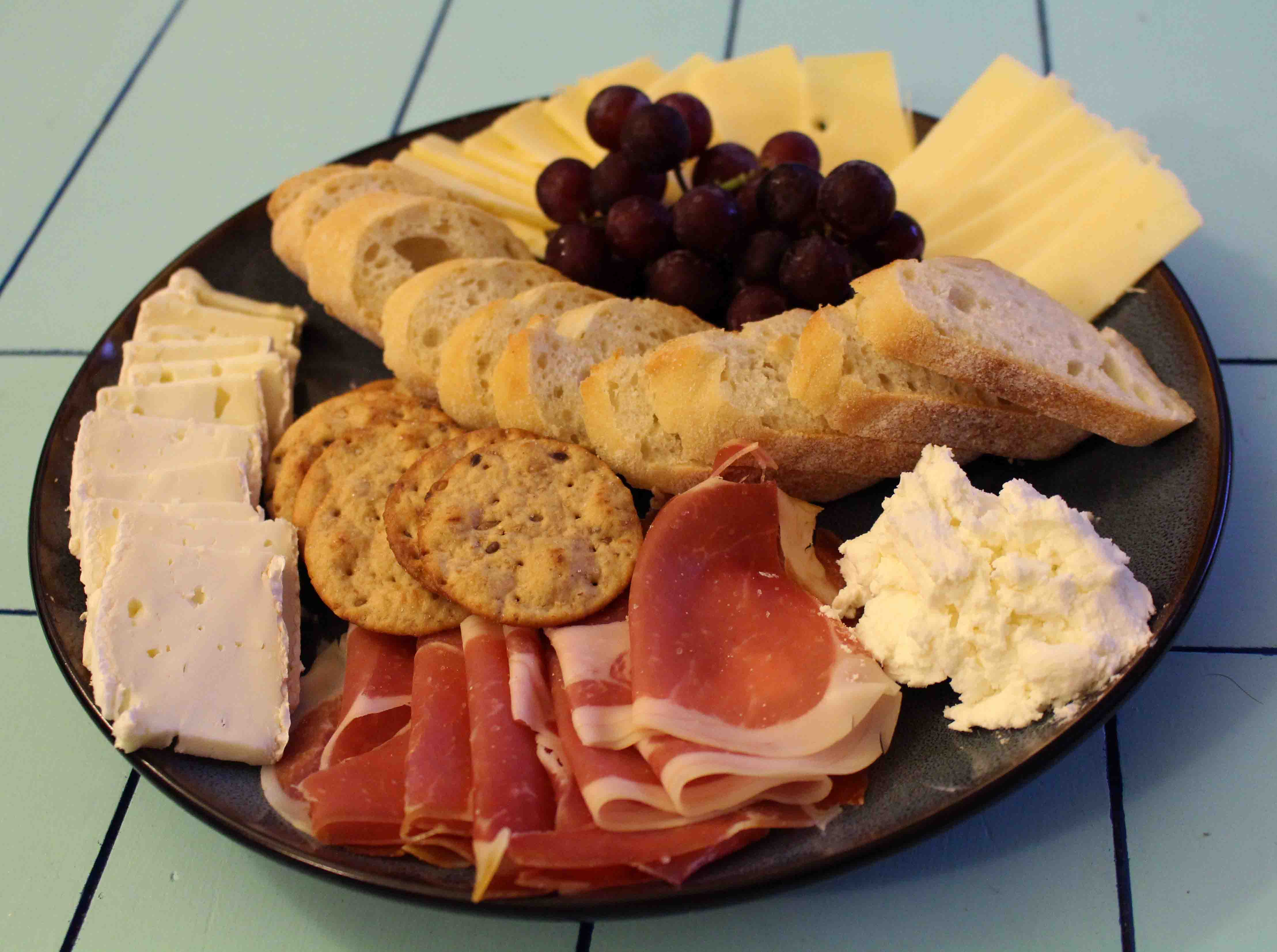 The cheese plate from our epic French feast on New Year's Eve!