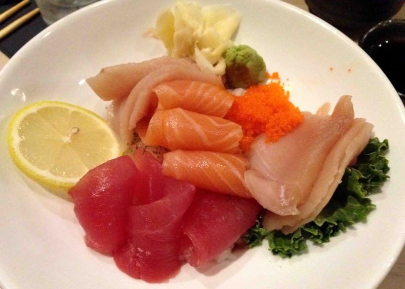Loving some sashimi at Basan!