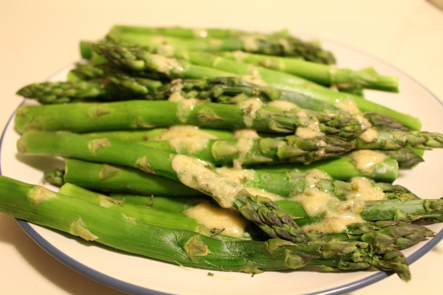 Asparagus with sauce gribiche makes for a simple to make but gourmet to serve!