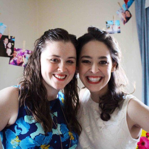 I made Victoria sponge cupcakes for celebrating Laura's bridal shower!