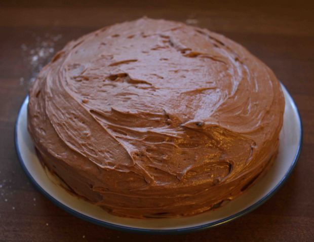 Butter cake with mocha icing - it's better than the box mix!!!
