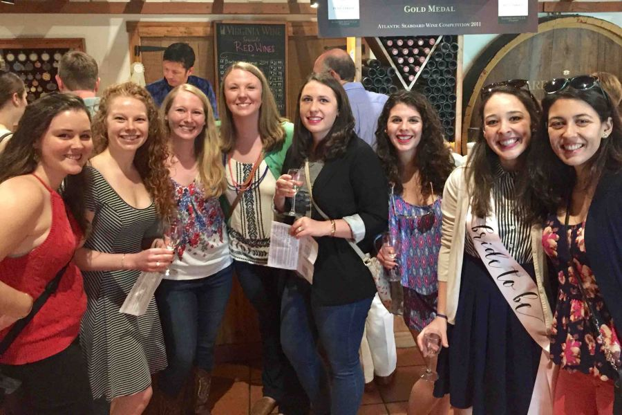 Celebrating Laura's bachelorette weekend with a vineyard weekend!