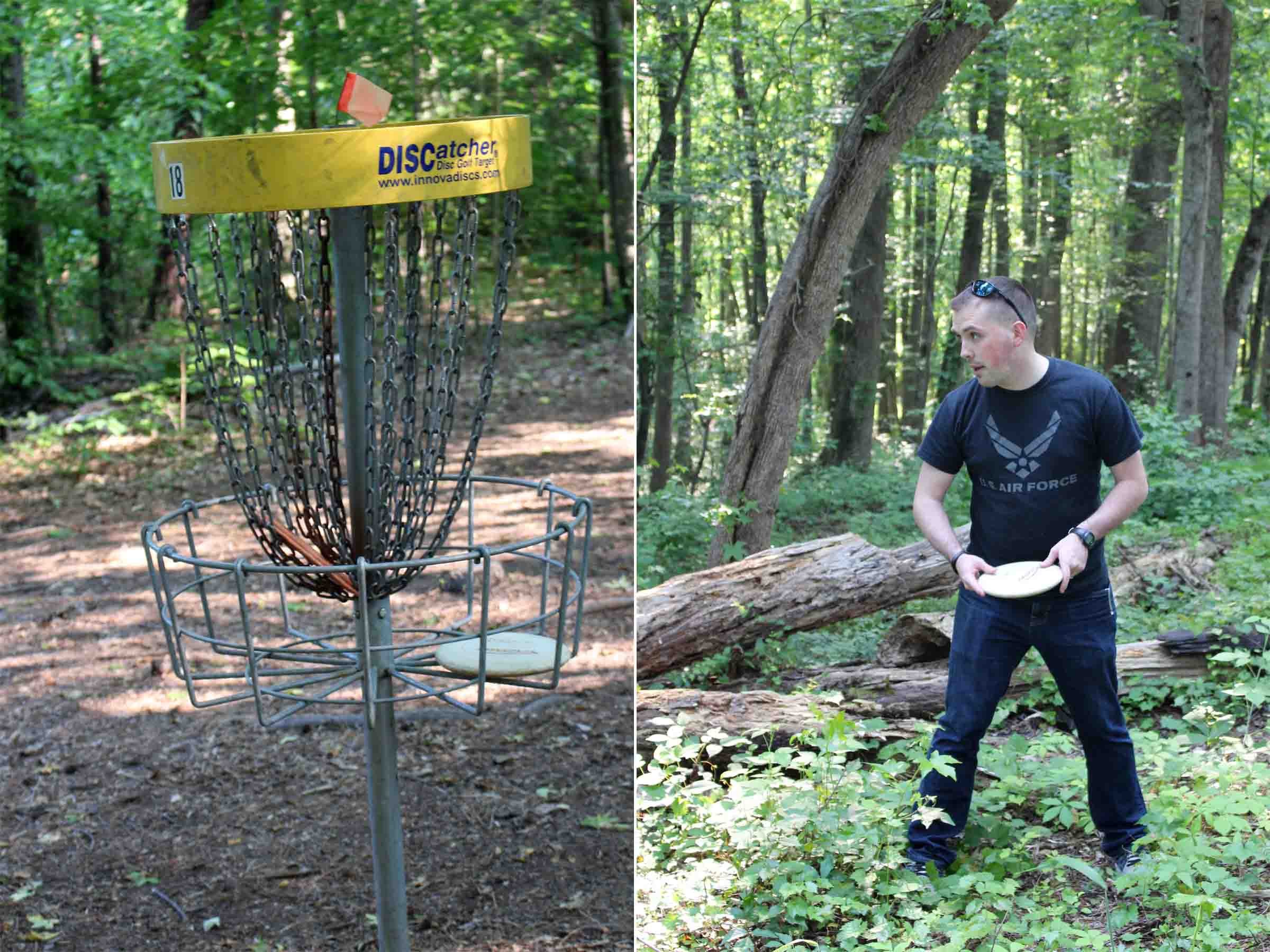 Taking a disc golf study break in the summertime!