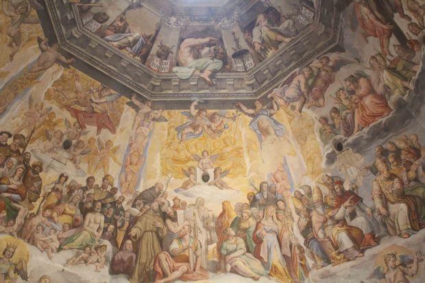 Inside Florence Duomo fresco