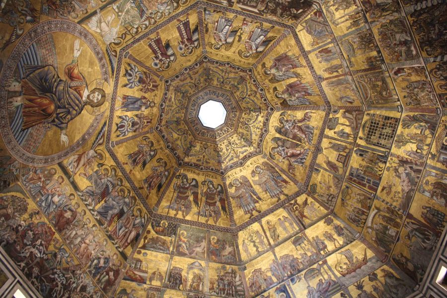 Inside ceiling of Florence Duomo's Baptistry