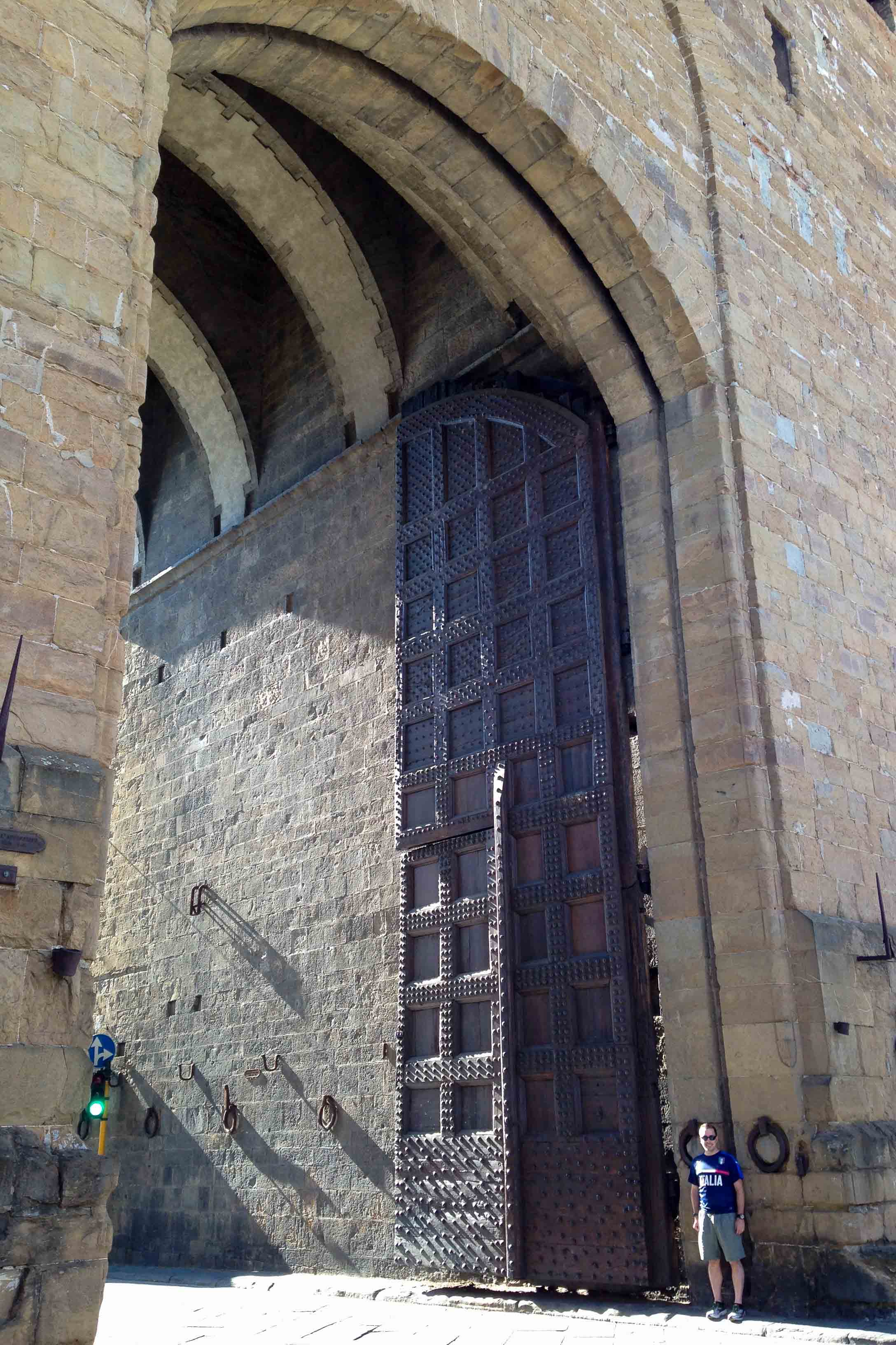 Florence city gate perspective