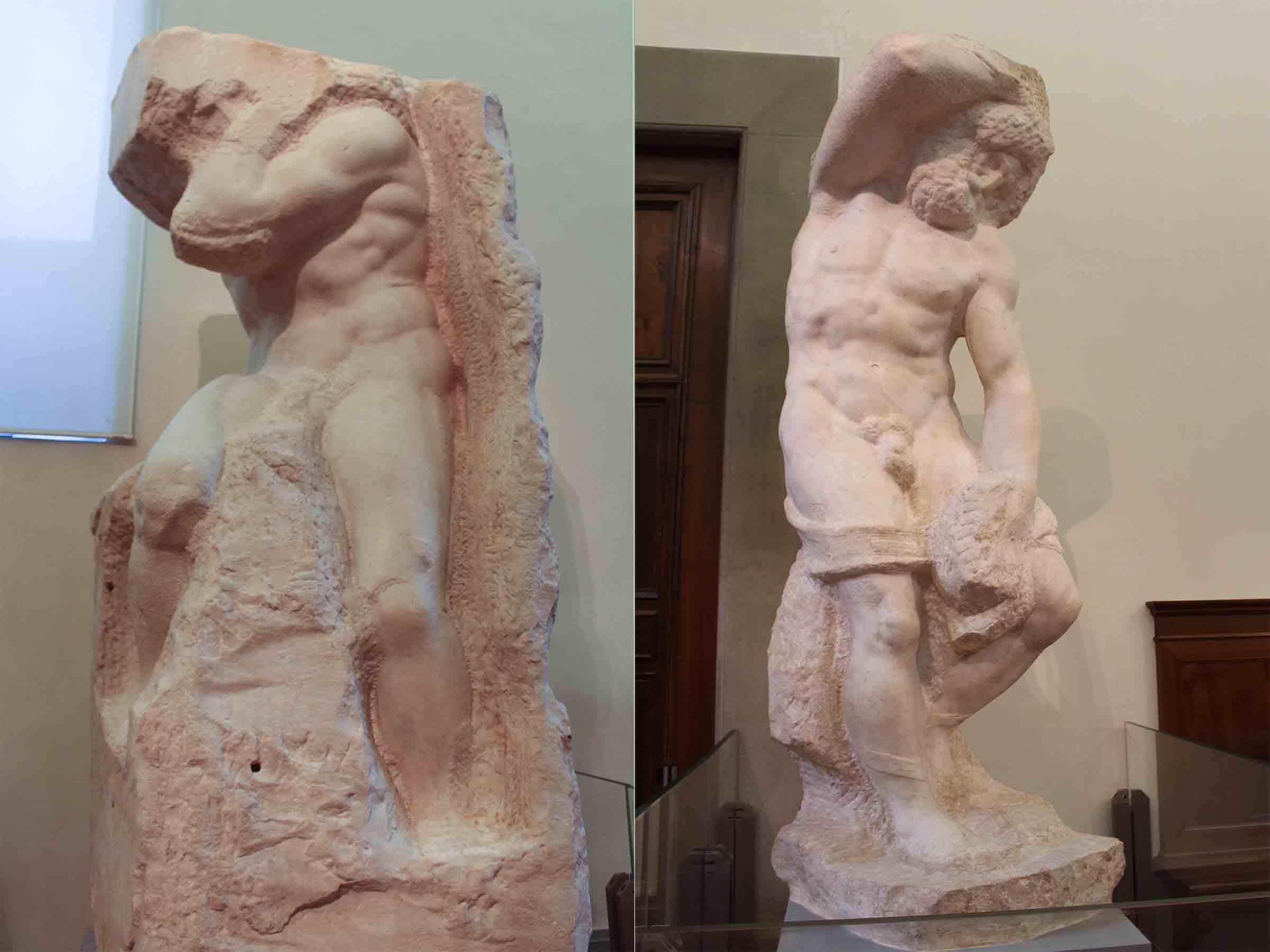 Michelangelo unfinished sculptures