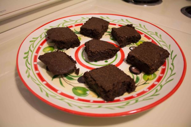 Rich fudgy brownies, HOMEMADE!