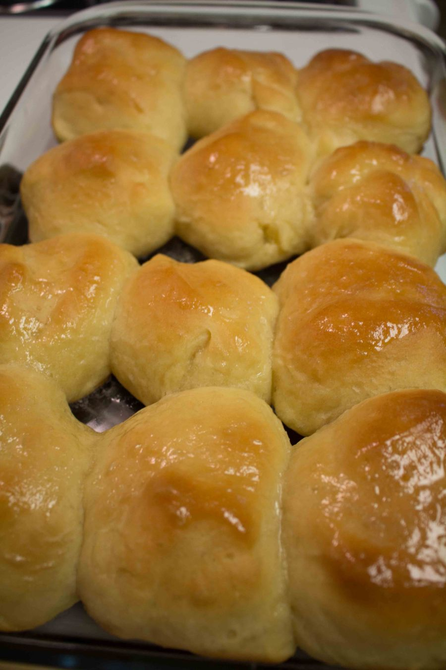 Honey butter dinner rolls - what more could you want?