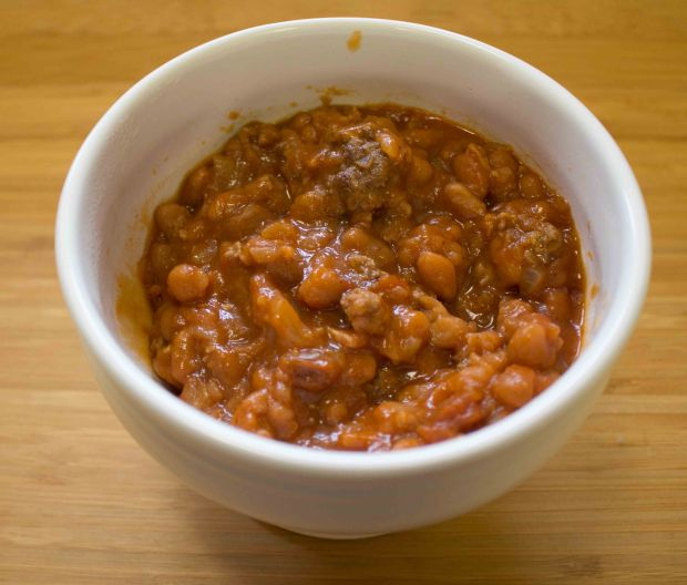 Hearty, filling, and easy: baked bean casserole