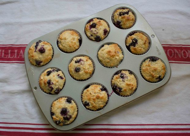 These bluebery yogurt muffins will keep you full all morning long!