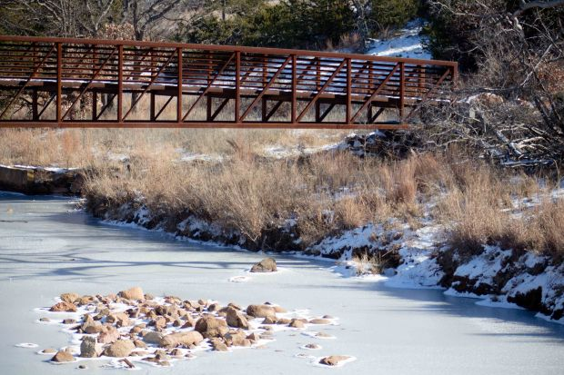 Hiking in the Wichita Mountains Wildlife Refuge in southwest Oklahoma gets even better in the snow!
