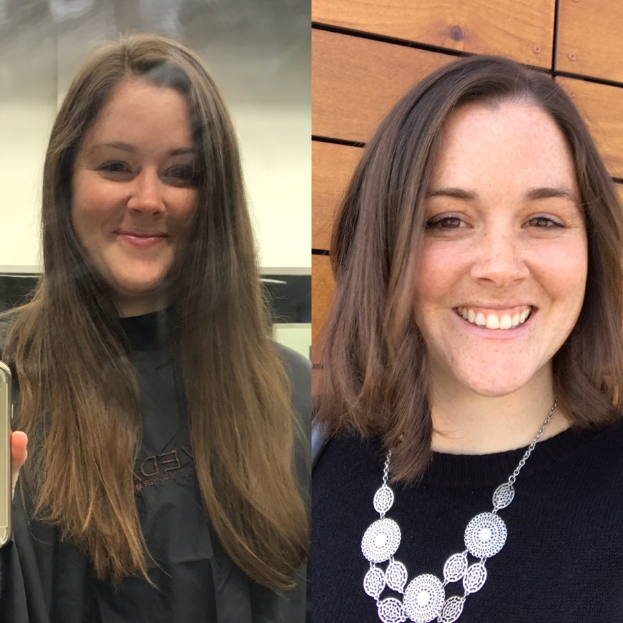 Before & After! Haircut Pantene Beautiful Length hair donation