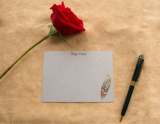 Check out my Etsy page for beautiful hand crafted foil press stationery!