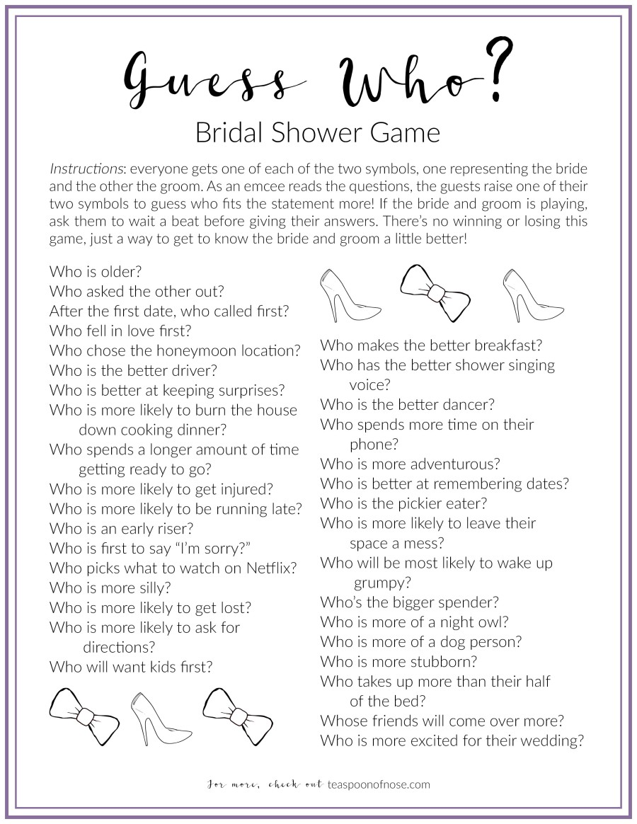This is the PERFECT bridal shower game, complete with a free downloadable!