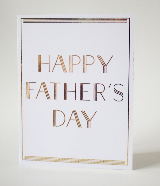 Father's Day Gold Foil Art Deco card