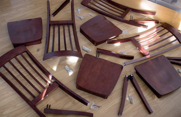 Disassembled Target chairs