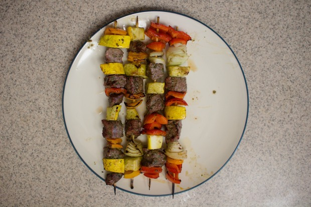 Chimichurri beef kabobs from my Whole30 adventure! How'd it go? | Teaspoon of Nose