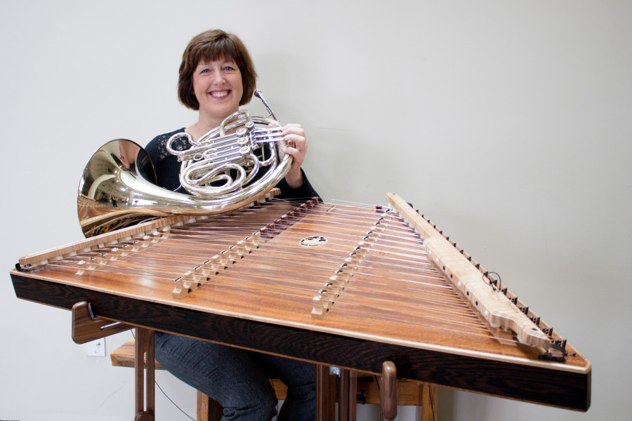 Mary Lynn van Deventer teaches hammered dulcimer, french horn, and piano! Here's a few shots from our recent photoshoot! | Teaspoon of Nose